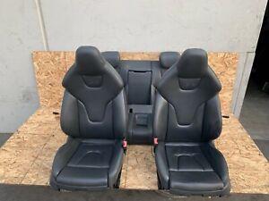 LEATHER SEAT SEATS SET FRONT/REAR BLACK COLOR OEM 08-17 AUDI A5 S5 8T