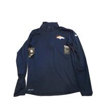 NWT New Denver Broncos Nike Dri-Fit Navy 1/2 Zip Element XXL Performance Jacket