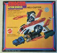 VINTAGE 1978 MATTEL SHOGUN ACTION VEHICLES HELI-CAPTER BOX AND INSERTS ONLY