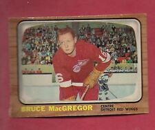 1966-67 OPC  # 104 RED WINGS BRUCE MACGREGOR CARD