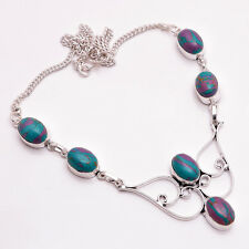 925 Sterling Silver Overlay Necklace, Handmade Gemstone Fashion Jewelry PN694