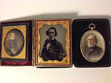 1846 DAGUERREOTYPE, AMBRO & MINIATURE PTG. PITTSBURGH IRON INVENTOR BUSINESSMAN