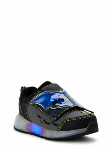 Batman Toddler Boys' Light Up Sneakers  Size 8 Grey (R-L)