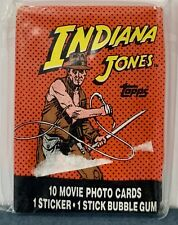 1984 Topps Indiana Jones Movie Photo Cards Wax Pack - MINT!!