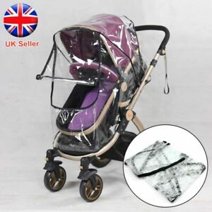 Stroller Rain Cover Universal Buggy Raincover For Baby Pushchair Pram Clear NEW