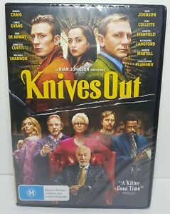 Knives Out (DVD 2019 PAL Region 4) Daniel Craig, Chris Evans - BRAND NEW SEALED