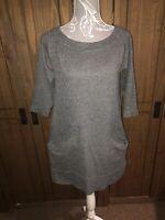 Toast Ladies Grey Tunic Top / Short Dress Size 8
