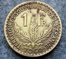 TOGO FRENCH MANDATE 1924 FRANC