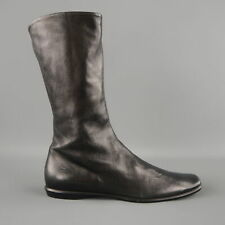 JIL SANDER Size US 6 / IT 36 Black Leather Flat Calf High Boots