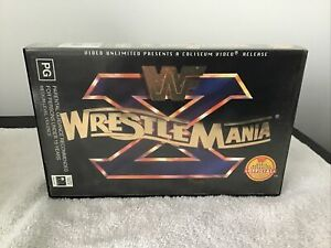 WWF WWE WCW Wrestling Wrestlemania 10 X VHS Great Price See Our huge Range!