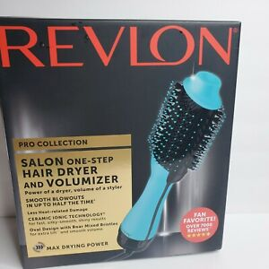 Revlon One Step Hair Dryer and Volumizer Mint Green  Pro Collection NIB