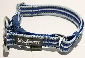 Blueberry Pet Reflective Multi-Colored Stripe Dog Collar - Small