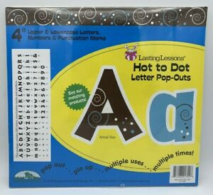 """NEW 2009 Barker Creek 4"""" Hot to Dot Letters Numbers Pop Outs Pin Up LL-1709"""
