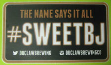 SWEET BABY JESUS THE NAME SAYS IT ALL Beer STICKER Label DuClaw Brewery MARYLAND