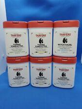 6 Packs Thayers Toning Towelettes Witch Hazel Aloe Vera Formula 30 Count Assorte