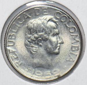 Colombia 1969 10 centavos 293649 combine