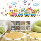 Animals Diy Train Wall Sticker For Kids Baby Room Nursery Home Decor Mural _wa