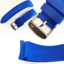 Correa Para Reloj El Cuartos 1/4 IN Silicona Impermeable 23cm Azul Y Negro