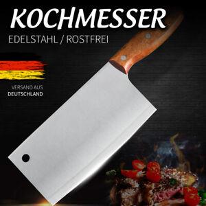 Kochmesser Hackmesser Chinesisch EDELSTAHL Messer Küchenmesser Metzgermesser NEU