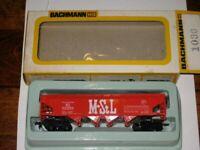 "BACHMANN 1030 HO SCALE QUAD BAY HOPPER ""M&St.L"""