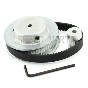 3M HTD3M 60T 15T Belt Width 10mm Timing Pulley Belt set kit Reduction Ratio 4:1
