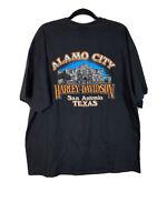 Harley Davidson Mens Size XXL Short Sleeve Black T Shirt Alamo City San Antonio