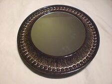 Vintage Spiegel Keramik 60er 70er Rund Braun/Bronze bubble Mirror Lava space age