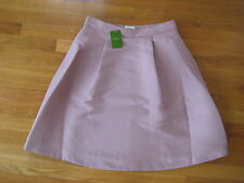 NEW Kate Spade New York PLEATED A LINE SKIRT ny pink 8 full lined rose $298 NWT
