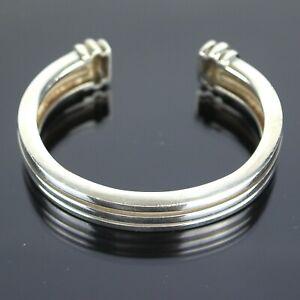 TIFFANY & CO. Atlas Groove Bangle Cuff Bracelet Sterling Silver 925