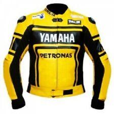 Men_s Two Tone Yellow Black Yamaha Motorcycle Racing Leather Jacket, Speed Hump