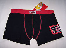 The Simpsons Homer Mens Black Red Printed Trunk Brief Size L New