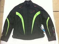 "RK SPORTS 'Shark' Mens Textile Motorbike / Motorcycle Jacket Size UK 40"" Chest"