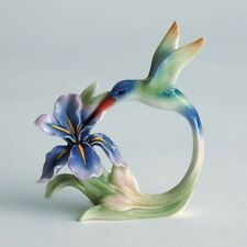 FZ00598 Franz Porcelain tail hummingbird napkin ring new Rare Exclusive set of 4