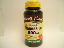 100 TABLETS MAGNESIUM OXIDE 500MG PER TAB EXTRA STRENGTH Reduces cholesterol