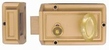 Brass Finish Rim Night Latch Single Rim Cylinder Deadbolt With key entry #43300