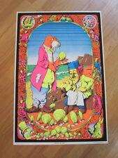 Come Join the Dance 1970 Blacklight poster Alice In Wonderland Joe Roberts Jr