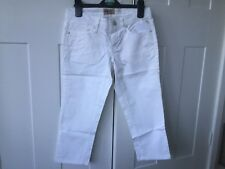 Replay jeans women white 3/4 trousers long shorts waist 26 UK 8