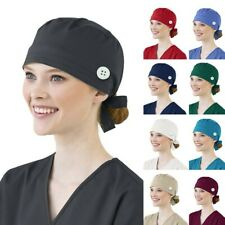 Surgical Scrub Cap Medical Doctor Nurse Cotton Bouffant Adjustable Head Cover