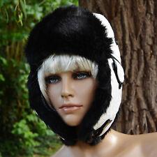Chapka bonnet chapeau Femme cache oreille fourrure blanche hawkins ZAZA2CATS