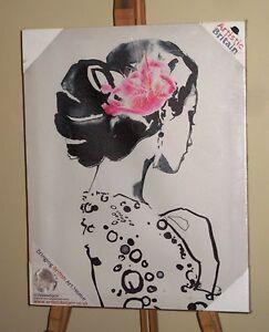 JOHANNA FERNIHOUGH (20th Century) New Sealed Box Canvas Print of Spanish Woman