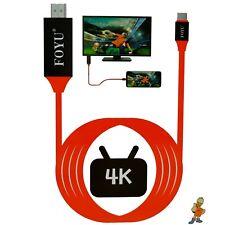 ✅ CAVO MHL TYPE C HDMI 4K FULL HD 1080P HDTV TV SAMSUNG HUAWEI IPAD MIRROR LINK