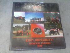 2010 Kioti University Technical Training Manual w/ binder Factory OEM Service