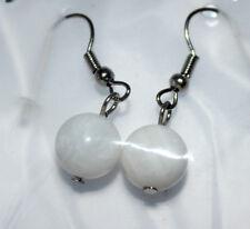 NEU Modeschmuck Damen Mädchen Ohranhänger Ohrringe Naturperle Fine New Jade #040