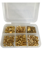 M3 Solid Brass Slotted Countersunk Machine Screws Nuts & Washers Assorted Kit