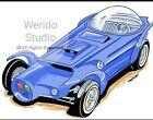 Orbitron/Ed Roth Cars  Automotive Art Print