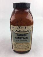 "Vintage Pharmacy Bismuth Subnitrate Medicine Bottle Empty 6.5"" Mallinckrodt"