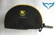 Maskentasche schwarz Poseidon Logo gelb TauchMaske Karabiner Tasche Etui Box NEU