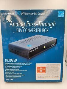Digital Stream DTX9950 Analog Pass-Through DTV Converter Box for Analog TV