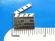 Movie TV production CLAPPER - hat pin ,  lapel pin , tie tac , hatpin GIFT BOXED