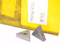 NEW SURPLUS  8PCS.  KENNAMETAL  TNMG 432  GRADE: K45  CARBIDE INSERTS
